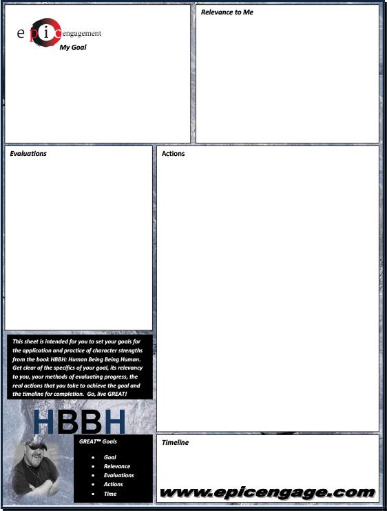 GREAT Sheet